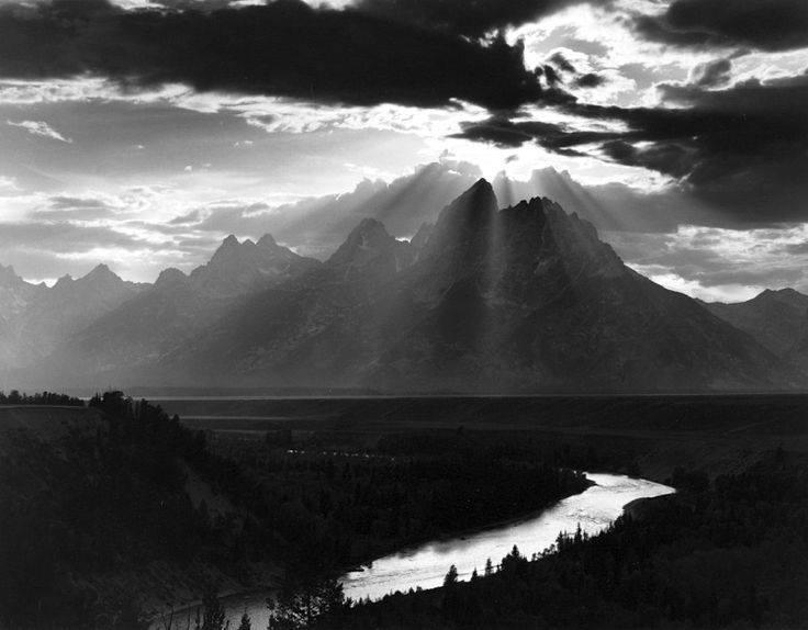Minor White, Grand Tetons National Park, Wyoming, 1959, gelatin silver print.